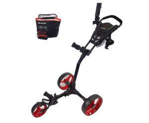 Paragon 3-wheelie Push Pull Folding 3 Wheel Golf Push Cart